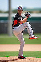 Miami Marlins Justin Nicolino (20) during a minor league Spring Training intrasquad game on March 31, 2016 at Roger Dean Sports Complex in Jupiter, Florida.  (Mike Janes/Four Seam Images)