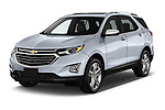 2018 Chevrolet Equinox Premier 5 Door SUV Angular Front stock photos of front three quarter view