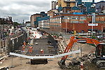 Crossrail work in progress the Tate and Lyle Sugar Factory Silvertown London E16 2010s UK