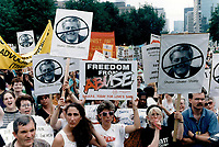 Activists oppose social program reforms proposed by new Harris govt.<br /> <br /> Photo : Boris Spremo - Toronto Star archives - AQP