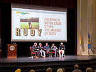 """May 31, 2013; 2013 Reunion discussion on the making of the movie """"Rudy.""""<br /> <br /> Photo by Matt Cashore/University of Notre Dame"""