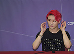 Junsu, Aug 03, 2014 : South Korean boy band JYJ's Junsu attends a news conference after a showcase for the group's new second regular album, 'JUST US', in Seoul, South Korea.  (Photo by Lee Jae-Won/AFLO) (SOUTH KOREA)