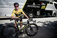 portrait of yellow jersey / GC leader Adam Yates (GBR/Mitchelton-Scott) at the stage start in Millau<br /> <br /> Stage 7 from Millau to Lavaur (168km)<br /> <br /> 107th Tour de France 2020 (2.UWT)<br /> (the 'postponed edition' held in september)<br /> <br /> ©kramon