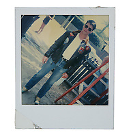 """BNPS.co.uk (01202) 558833. <br /> Pic: PropStore/BNPS<br /> <br /> Pictured: A continuity Polaroid photograph of Tom Cruise as """"Maverick"""" is included in the sale. <br /> <br /> Costume props and behind-the-scenes photos from the classic Tom Cruise movie Top Gun are coming up for sale.<br /> <br /> The archive includes the white vest worn by Goose, the partner of Tom Cruise's character Pete 'Maverick' Mitchell, during the famous beach volleyball scene. <br /> <br /> There is also the flight suit worn by Maverick's Top Gun rival, Tom 'Iceman' Kazansky, played by Val Kilmer in the 1986 film."""