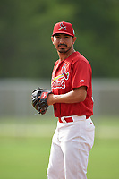 St. Louis Cardinals pitcher Andrew Morales (32) during practice before a Minor League Spring Training game against the New York Mets on March 31, 2016 at Roger Dean Sports Complex in Jupiter, Florida.  (Mike Janes/Four Seam Images)