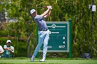 5th June 2021; Dublin, Ohio, USA; Bo Hoag (USA) watches his tee shot on 9 during the Memorial Tournament Rd3 at Muirfield Village Golf Club on June 5, 2021 in Dublin, Ohio.