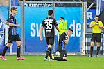 Jubelt nach seinem Treffer zum 5:2 Waldhofs Marcel Hofrath (Nr.31) dazu kommen links Waldhofs Max Christiansen (Nr.13) und Waldhofs Hamza Saghiri (Nr.35)  beim Spiel in der 3. Liga, SV Waldhof Mannheim - 1. FC Magdeburg.<br /> <br /> Foto © PIX-Sportfotos *** Foto ist honorarpflichtig! *** Auf Anfrage in hoeherer Qualitaet/Aufloesung. Belegexemplar erbeten. Veroeffentlichung ausschliesslich fuer journalistisch-publizistische Zwecke. For editorial use only. DFL regulations prohibit any use of photographs as image sequences and/or quasi-video.