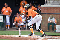 Tennessee Volunteers right fielder Vincent Jackson (40) swings at a pitch during a game against the Georgia Bulldogs at Lindsey Nelson Stadium March 21, 2015 in Knoxville, Tennessee. The Bulldogs defeated the Volunteers 12-7. (Tony Farlow/Four Seam Images)