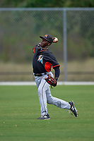 Miami Marlins Isaiah White (68) during practice before a minor league Spring Training intrasquad game on March 31, 2016 at Roger Dean Sports Complex in Jupiter, Florida.  (Mike Janes/Four Seam Images)