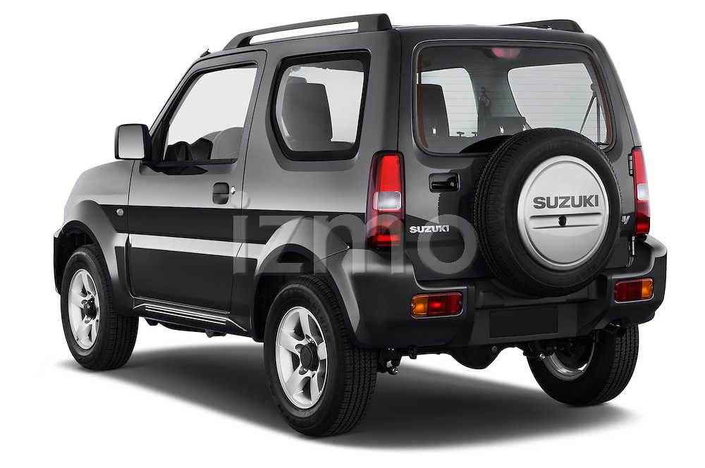 Car pictures of rear three quarter view of a 2014 Suzuki JIMNY JLX X-Citement 3 Door SUV 4WD Angular Rear