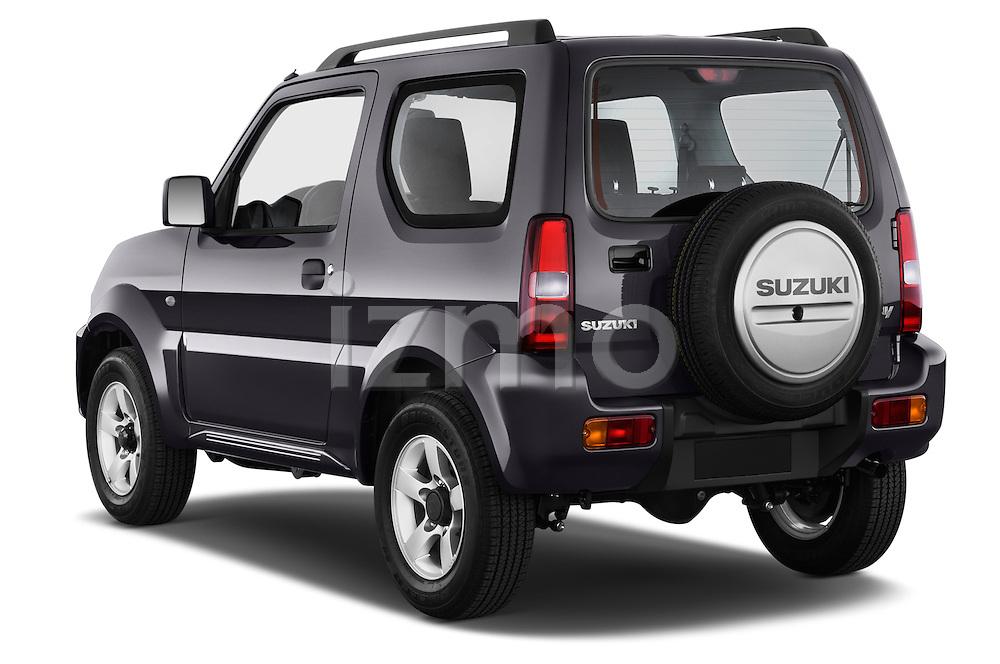 Car pictures of rear three quarter view of a 2014 Suzuki JIMNY JLX X-Citement 3 Door SUV 4WD Angular Rear