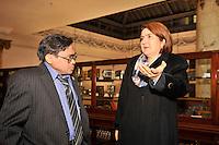 Consul General  Elsa Gladys Cifuentes Aranzazu during a visitat  to the Mechanics Institute, Manhattan, New York, United States, on December 19, 2012. VizzorImage