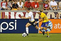 Kelly O'Hara #19, Sara Thunebro...USWNT tied Sweden 1-1 at Morison Stadium, Nebraska.