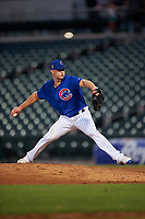 AZL Cubs 1 relief pitcher Chad Hockin (34) during a rehab assignment in an Arizona League game against the AZL Giants Orange on July 10, 2019 at Sloan Park in Mesa, Arizona. The AZL Giants Orange defeated the AZL Cubs 1 13-8. (Zachary Lucy/Four Seam Images)