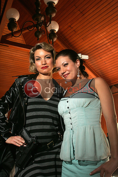 """Rena Riffel and Tiffany Shepis<br />on the set of the upcoming feature film """"Dark Reel"""" slated for June 2007 release. Private Location, Altadena, CA. 11-15-06<br />Dave Edwards/DailyCeleb.com 818-249-4998<br />Exclusive"""