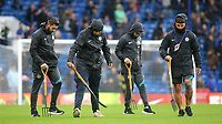 Chelsea ground staff attend to the pitch ahead of kick off during Chelsea vs Southampton, Premier League Football at Stamford Bridge on 2nd October 2021