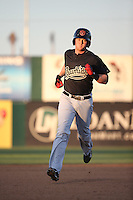 (6) of the Visalia Rawhide pitches against the Lancaster JetHawks at The Hanger on July 6, 2016 in Lancaster, California. Lancaster defeated Visalia, 10-7. (Larry Goren/Four Seam Images)
