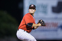Kannapolis Intimidators relief pitcher Michael Horejsei (30) in action against the Lakewood BlueClaws at Kannapolis Intimidators Stadium on August 11, 2016 in Kannapolis, North Carolina.  The Intimidators defeated the BlueClaws 3-1.  (Brian Westerholt/Four Seam Images)