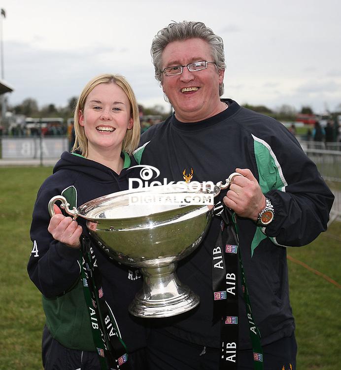 Linda Dorman and Dale Elliott. AIB Cup Final 2009 Dubarry Park, Athlone. Mandatory Credit - Mandatory Credit - John Dickson