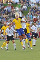 Caroline Seger...USWNT tied Sweden 1-1 at Morrison Stadium, Omaha Nebraska.
