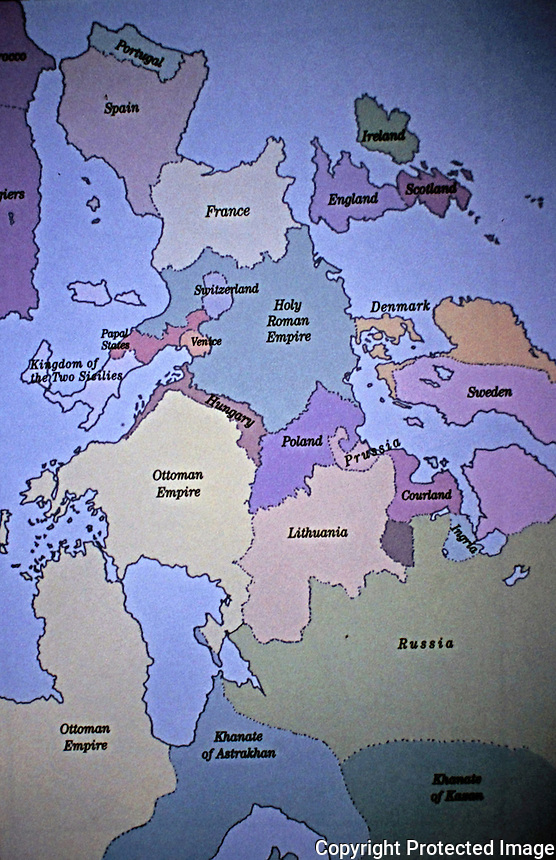 map of Europe in 1580.