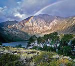 Rainbow over Laurel Mountain at Convict Lake, Eastern Sierra, Inyo National Forest, California