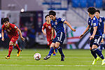 Shibasaki Gaku of Japan in action during the AFC Asian Cup UAE 2019 Quarter Finals match between Vietnam (VIE) and Japan (JPN) at Al Maktoum Stadium on 24 January 2018 in Dubai, United Arab Emirates. Photo by Marcio Rodrigo Machado / Power Sport Images