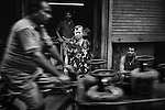An Anglo Indian lady on Ripon Street. Kolkata.