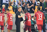 coach Julian NAGELSMANN (M) claps Dayot UPAMECANO (M) after the game, Soccer 1. Bundesliga, 1st matchday, Borussia Monchengladbach (MG) - FC Bayern Munich (M), on 08/13/2021 in Borussia Monchengladbach / Germany. #DFL regulations prohibit any use of photographs as image sequences and / or quasi-video # Â