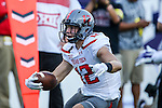 Texas Tech Red Raiders wide receiver Ian Sadler (12) in action during the game between the Texas Tech Red Raiders and the TCU Horned Frogs at the Amon G. Carter Stadium in Fort Worth, Texas. TCU defeats Texas Tech 82 to 27.