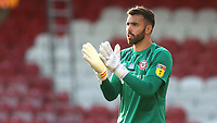 Brentford goalkeeper , David Raya during Brentford vs West Bromwich Albion, Sky Bet EFL Championship Football at Griffin Park on 26th June 2020