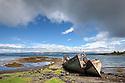 Abandoned fishing boats, Salen, Isle of Mull, Scotland, UK. June.