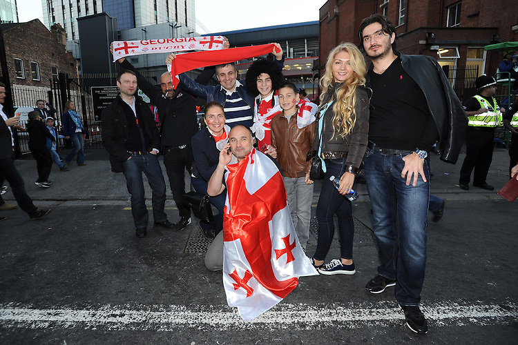 Georgia fans get ready for Match 23 of the Rugby World Cup 2015 between New Zealand and Georgia - 02/10/2015 - Millennium Stadium, Cardiff<br /> Mandatory Credit: Rob Munro/Stewart Communications