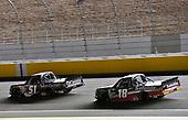 #51: Kyle Busch, Kyle Busch Motorsports, Toyota Tundra Cessna and #18: Harrison Burton, Kyle Busch Motorsports, Toyota Tundra Safelite AutoGlass