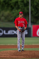 AZL Angels relief pitcher Jerryell Rivera (70) gets ready to deliver a pitch during a game against the AZL Giants on July 9, 2017 at Diablo Stadium in Tempe, Arizona. AZL Giants defeated the AZL Angels 8-4. (Zachary Lucy/Four Seam Images)