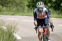 Julien Bernard (FRA/Trek - Segafredo) up the Col de Porte<br /> <br /> 73rd Critérium du Dauphiné 2021 (2.UWT)<br /> Stage 6 from Loriol-sur-Drome to Le Sappey-en-Chartreuse (167km)<br /> <br /> ©kramon