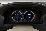 Instrument panel close up detail view of a 2009 Volvo XC 60