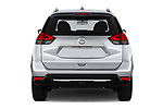 Straight rear view of 2020 Nissan Rogue S 5 Door SUV Rear View  stock images