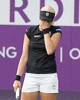 16-6-09, Rosmalen, Tennis, Ordina Open 2009, .  Michaella Krajicek is gefrustreerd ze haalt de tweede ronde niet