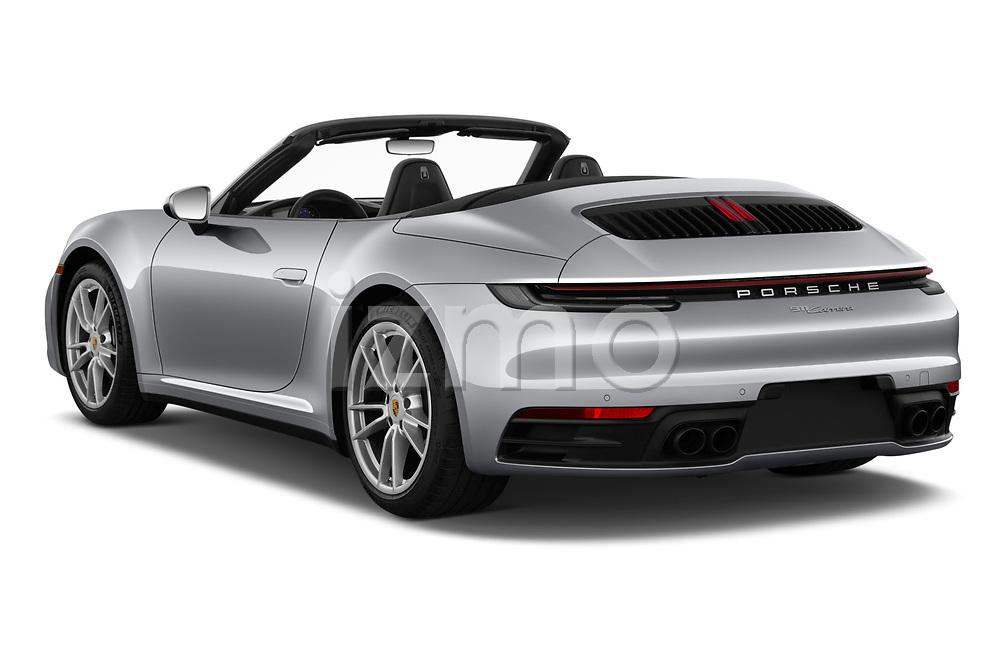 Car pictures of rear three quarter view of 2021 Porsche 911 Carrera 2 Door Convertible Angular Rear