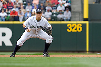 July 23, 2008:  Seattle Mariners first baseman Bryan LaHair during a game against the Boston Red Sox at Safeco Field in Seattle, Washington.
