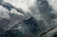 Stormy clouds over Rocky Mountain peak. Summit County, Colorado.