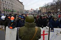Protesters  march in Kiev. Ukraine