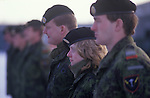 Danish Army female soldier in Tank unit. Denmark 1990s.