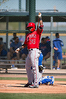 Los Angeles Angels outfielder Jose Verrier (74) during a Minor League Spring Training game against the Chicago Cubs at Sloan Park on March 20, 2018 in Mesa, Arizona. (Zachary Lucy/Four Seam Images)