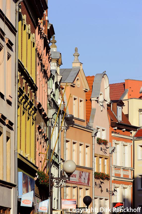 Straße 1Go Maja in Jelenia Gora (Hirschberg), Woiwodschaft Niederschlesien (Województwo dolnośląskie), Polen, Europa<br /> 1goMaja st. in Jelenia Gora, Poland, Europe