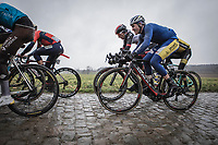Christophe Noppe (BEL/Sport Vlaanderen Baloise) riding the  cobbles<br /> 73th Dwars Door Vlaanderen (1.UWT)<br /> 1day race: Roeselare › Waregem BEL (180km)