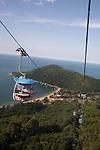 The aerial tram through the Atlantic Rainforest at Parque Unipraias, Balneario Camboriu, Santa Catarina, Brazil