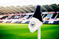 Corner flag detail <br /> Re: Behind the Scenes Photographs at the Liberty Stadium ahead of and during the Premier League match between Swansea City and Bournemouth at the Liberty Stadium, Swansea, Wales, UK. Saturday 25 November 2017