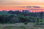 Barn in Lanesboro at sunset.